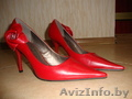 Туфли свадебные белые,  туфли красные