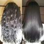 Наращивание волос,  Кератиновое выпрямление волос